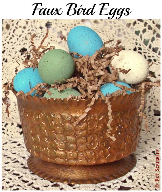 Faux Bird Eggs - an easy tutorial!
