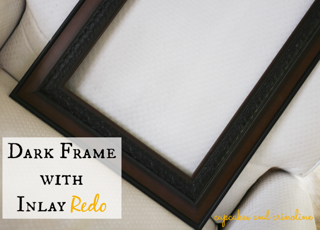 Milk Paint and Gold Frame Redo Before