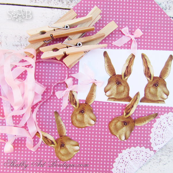Vintage Bunny Place Cards