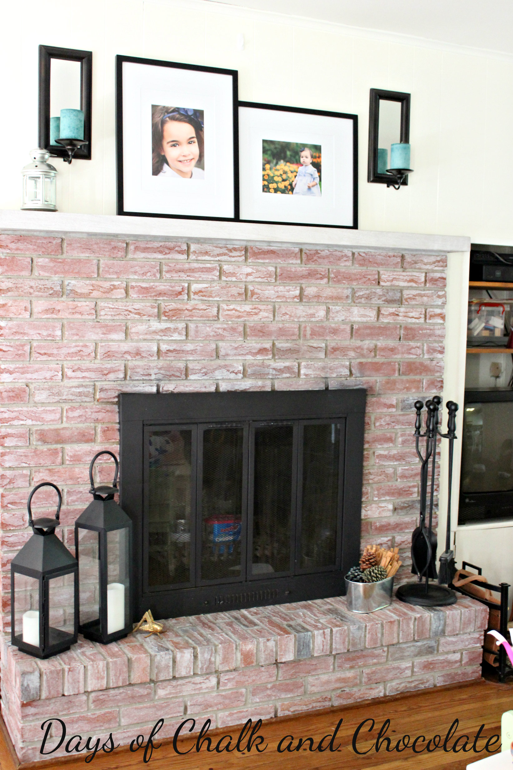 Whitewashed Brick Fireplace Live Creatively Inspired