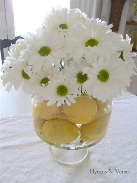 Lemon and Daisy Centerpiece