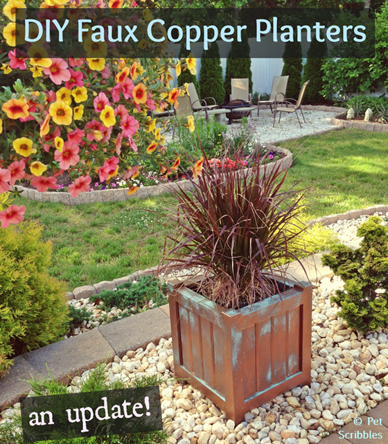 DIY Faux Copper Planters