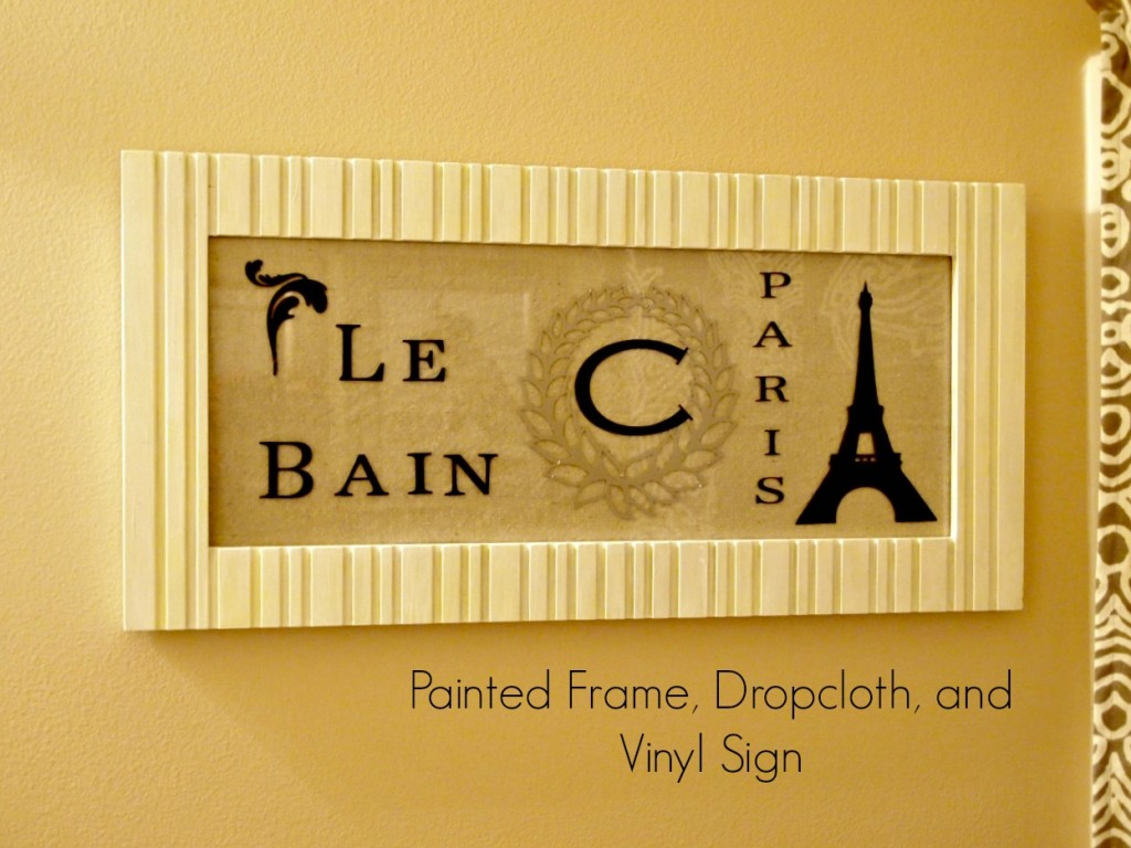 Painted Frame and Vinyl Sign