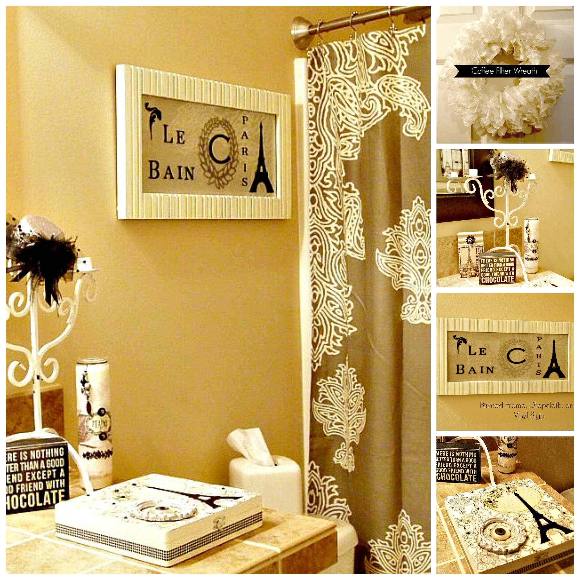 paris themed bathroom. My Paris Bathroom  Makeover Using What You Already Have The Answer Is Chocolate