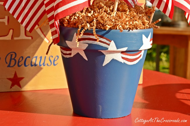 Patriotic Painted Pot