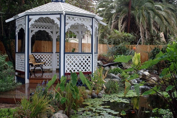 Gazebo by a Water Garden