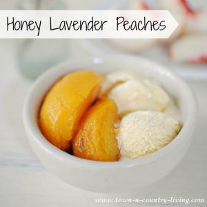 Honey Lavender Peaches