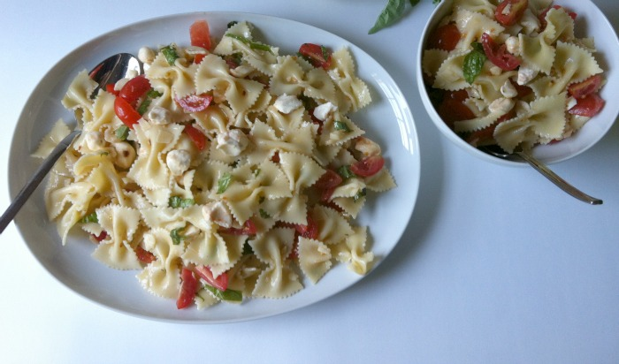 Caprese Pasta Salad by A Cedar Spoon