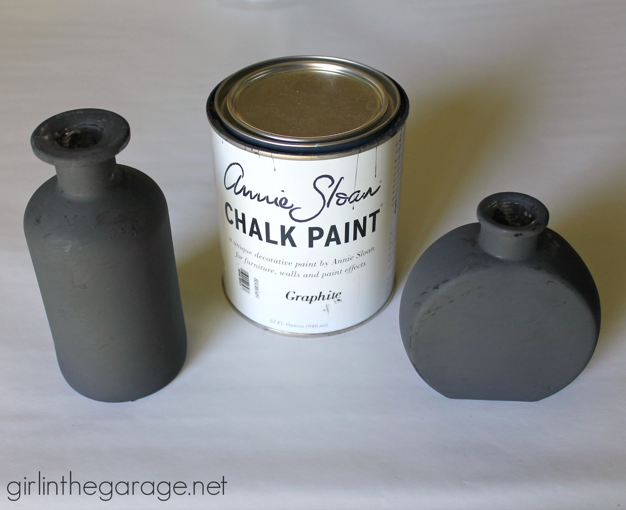 Chalk Paint On Glass Jars