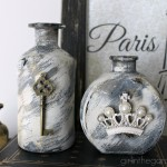Embellished Glass Bottles with Vintage Flair