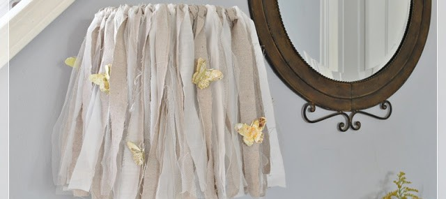 How to Make a Shabby Lampshade