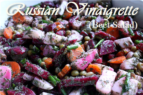 Russian Vinaigrette Salad Recipe by Lazy Budget Chef