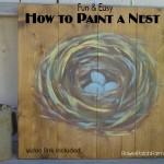 How to Paint a Birds Nest, FlowerPatchFarmhouse.com
