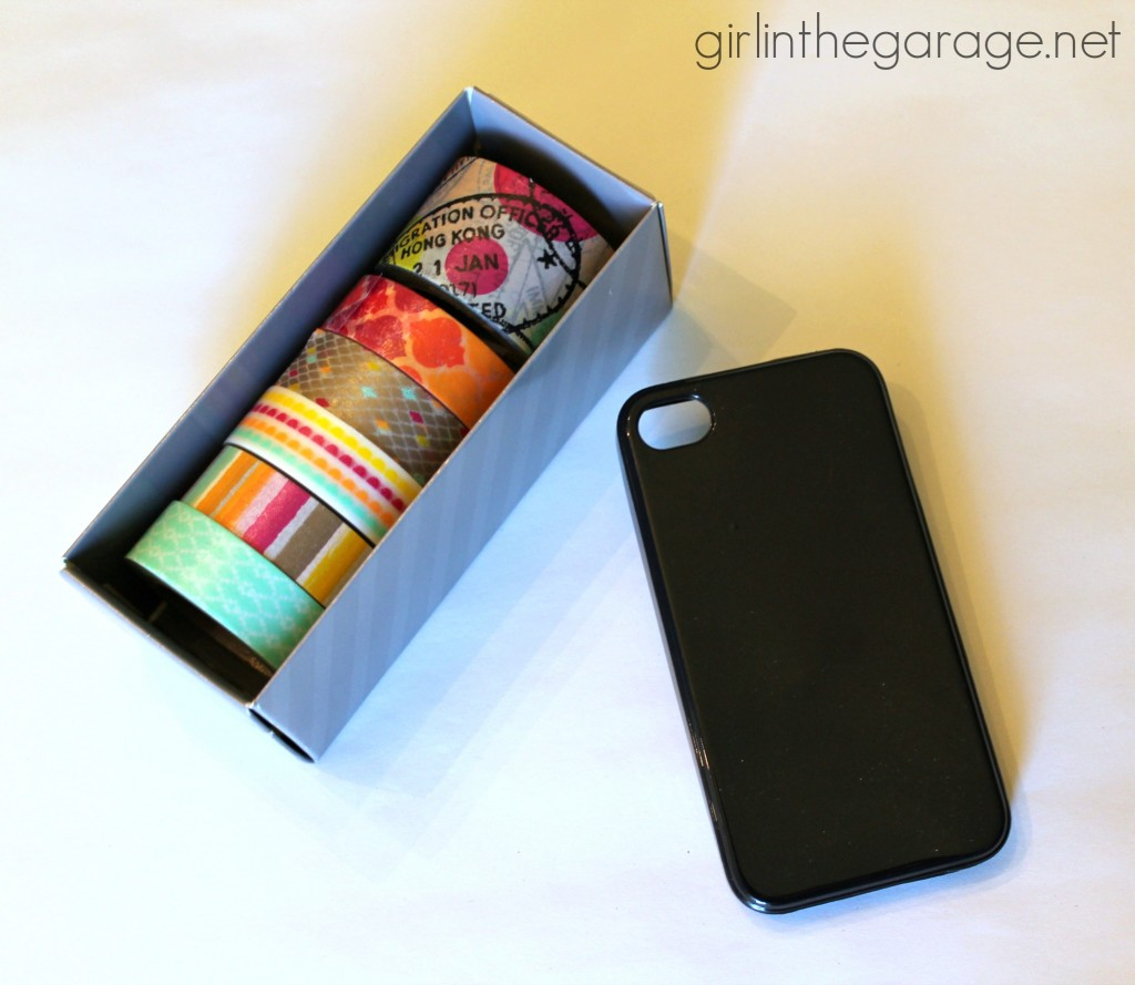 3 Ways to Update Your Phone Case with Washi Tape - easily and temporarily!  Girl in the Garage for Live Creatively Inspired