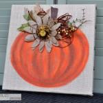 Fall Burlap Art
