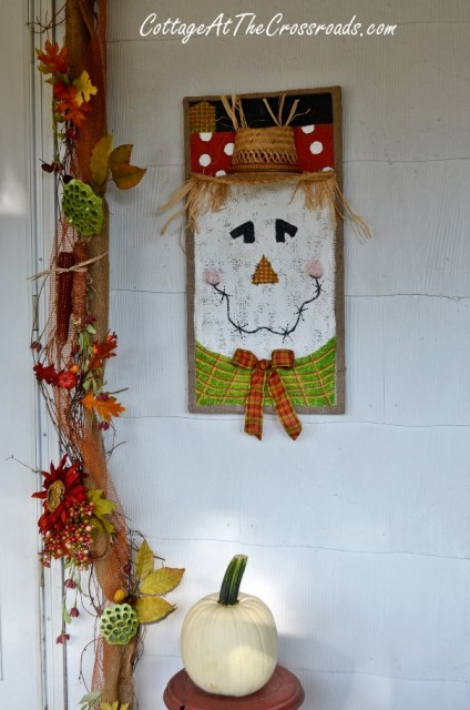 How to Paint Scarecrow on Burlap