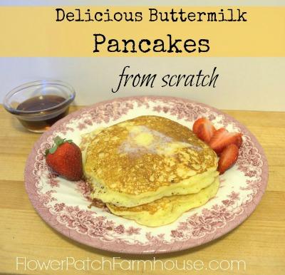Buttermilk Pancakes, FlowerPatchFarmhouse.com