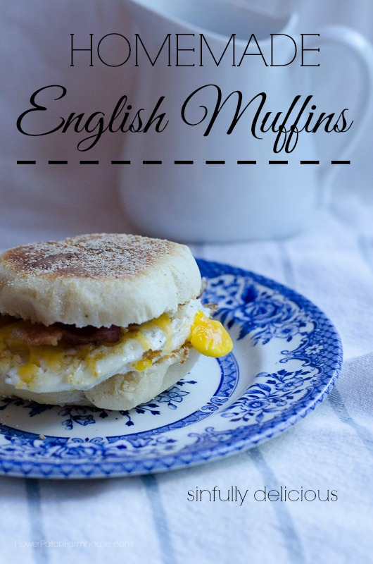 English Muffins, FlowerPatchFarmhouse.com