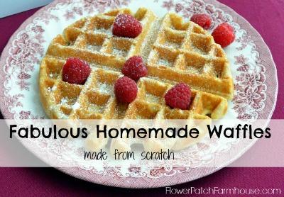 Homemade Waffles, FlowerPatchFarmhouse.com