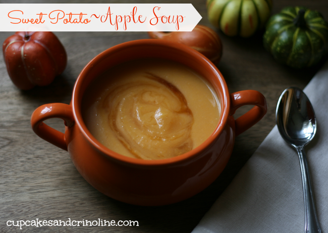 Sweet Potato Apple Soup cupcakesandcrinoline