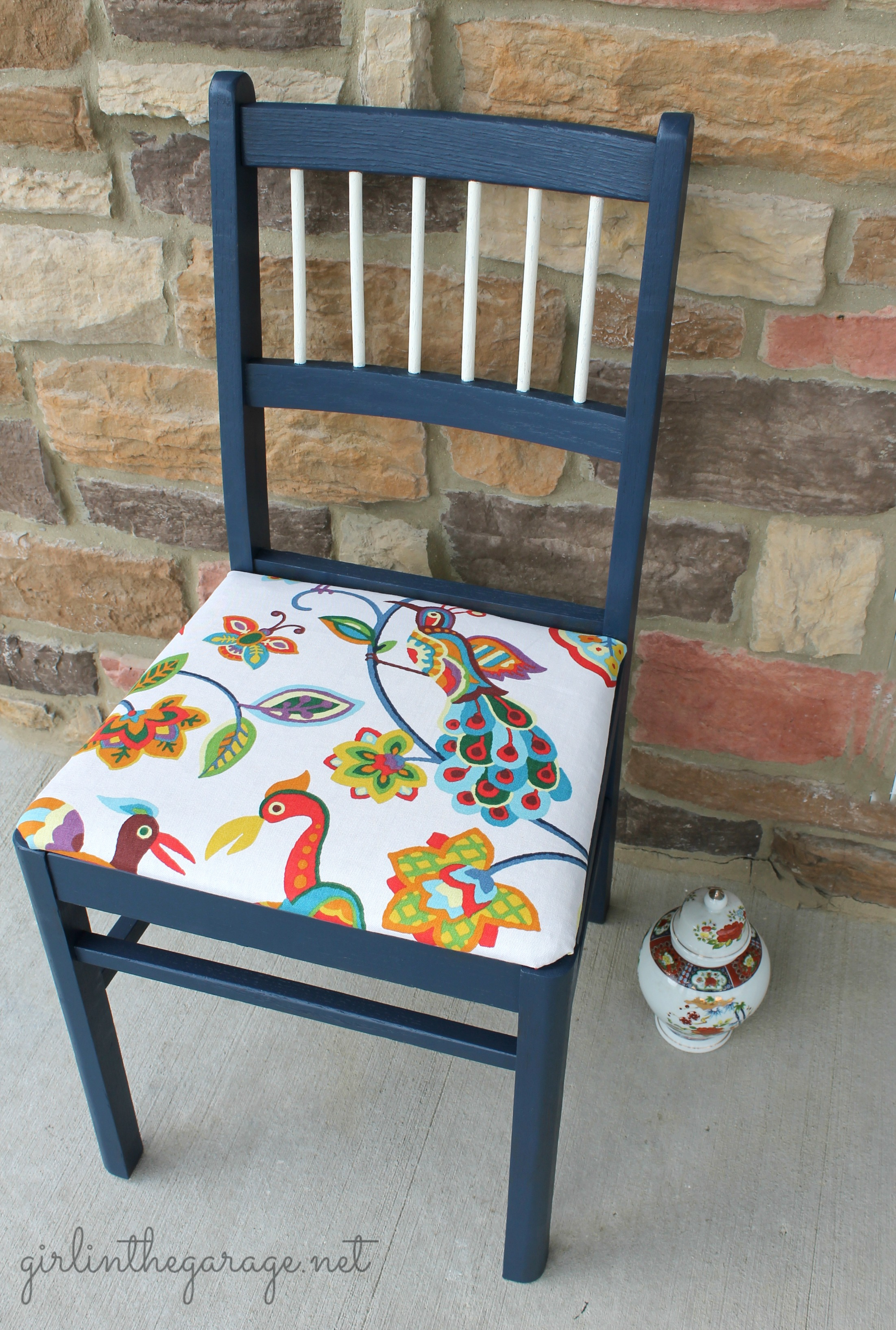 Blue Bird Chair Makeover Live Creatively Inspired
