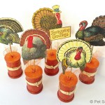 Fall Spool Craft: Vintage Thanksgiving Turkeys