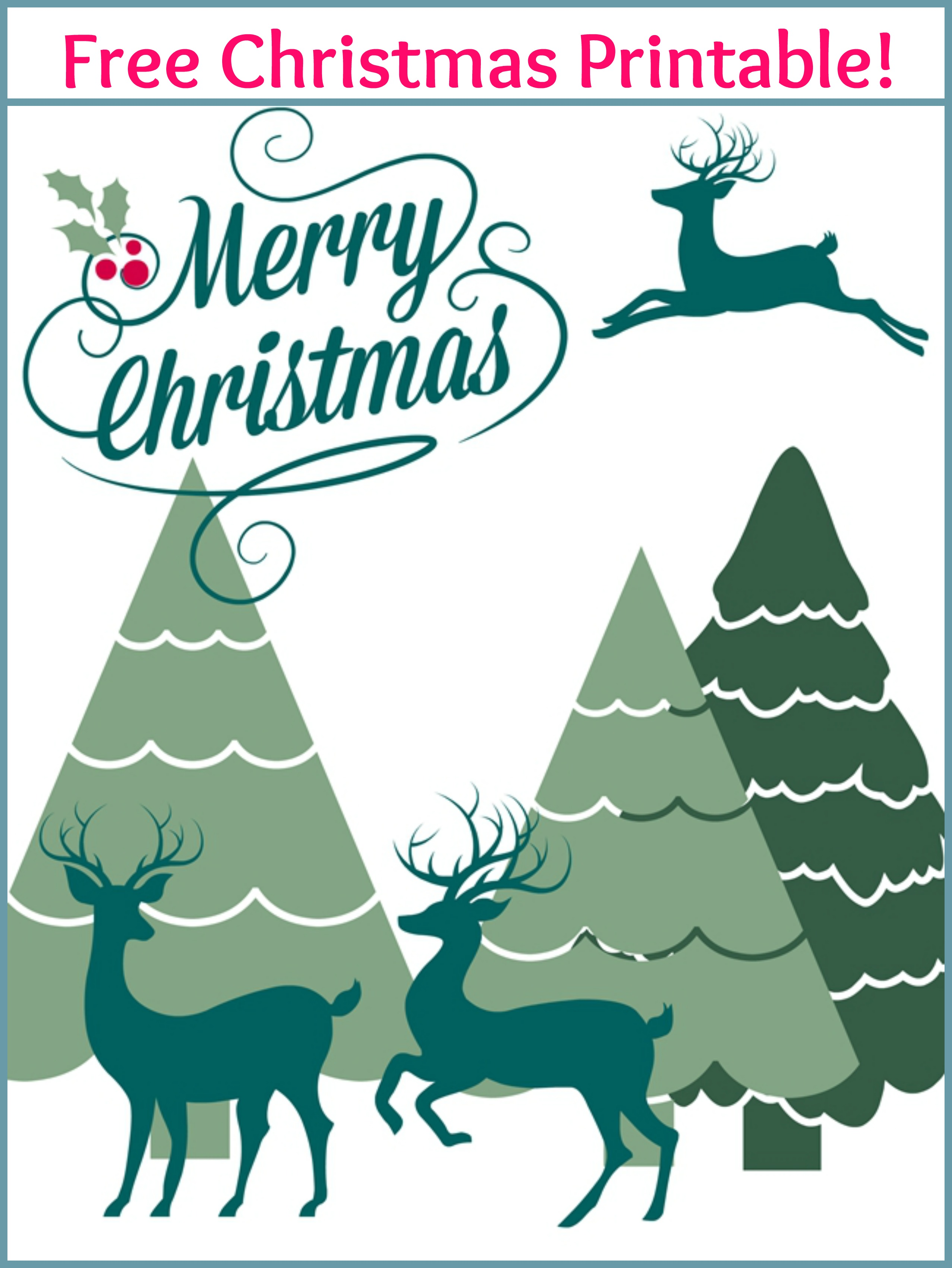 Merry Christmas Free Printable - Live Creatively Inspired
