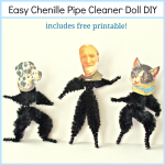 Easy Chenille Pipe Cleaner Doll DIY