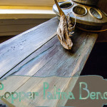 Copper Patina Bench