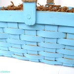 Chalky Finish Painted Basket