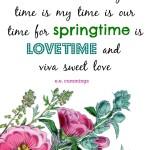 e.e. cummings printable: springtime