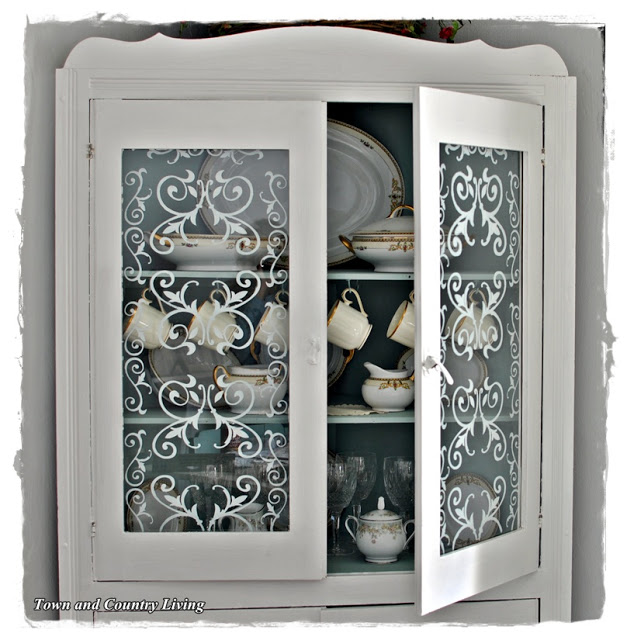 How To Stencil Glass Doors Live Creatively Inspired