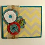 DIY Wall Art and Fabric Flower Tutorial