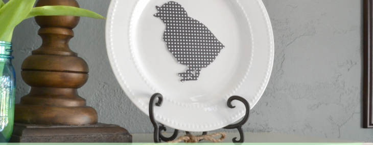 Easy Easter Silhouette Plate Tutorial