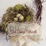 DIY Red Twig Wreath
