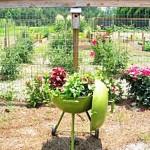 Repurposed Grill Planter