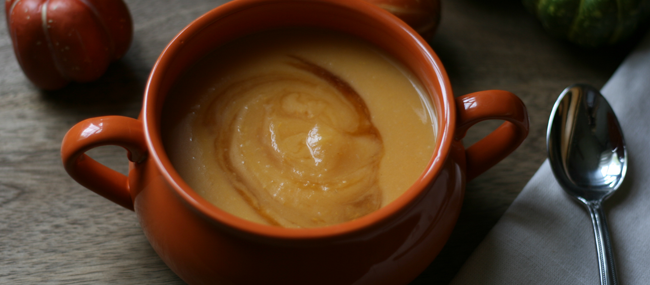 Sweet Potato-Apple Soup ~ Smooth, Creamy and Delicious