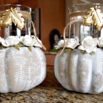 Dollar Tree Pumpkins Into Elegant Candleholders